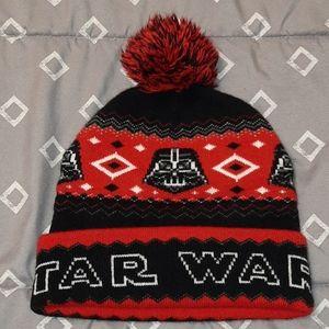 Black & Red Star Wars Beanie Winter Hat One Size